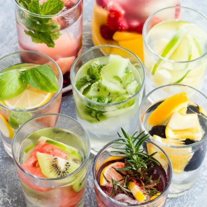 Eau aromatisée fruits